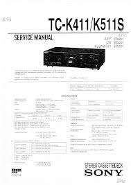 sony tc k411 service manual immediate download