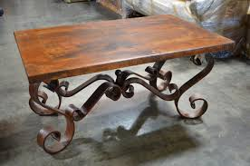 wood and wrought iron table stylish wood and wrought iron coffee table mediasupload com