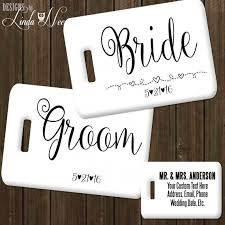 personalized wedding items personalized mr and mrs luggage tag set by designsbylindaneetoo