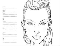 blank mac face charts celebrity inspired style hair and beauty
