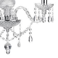 3 light chandelier polished chrome acrylic glass