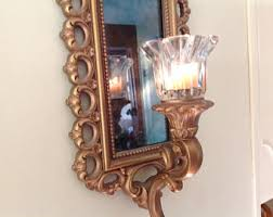 Mirrored Wall Sconce Mirror Wall Sconce Etsy