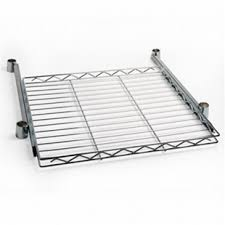 Metal Wire Shelving by Wire Pull Out Shelves Sliding Shelving On Guided Track