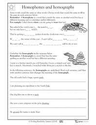 homophones and homographs worksheet 5 6 ela grammar