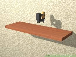 How To Make Invisible Bookshelf How To Build Simple Floating Shelves With Pictures Wikihow