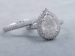 Pear Shaped Wedding Ring by 5 02 Ctw Pear Shape Diamond Wedding Ring Set G Si3 I1 Includes A