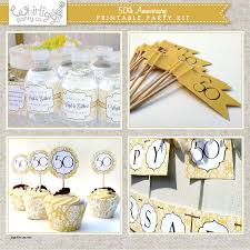 50th anniversary party favors wedding decorations best of golden wedding anniversary party