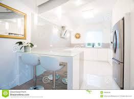 designer white kitchen interior stock photo image 49608228