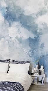 11 larger than life wall murals murals wallpaper blue white watercolour bedding fs wall mural