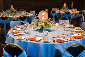 exciting royal blue and orange wedding decorations 72 on wedding