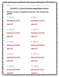math practice 4 1 estimate quotients using multiples worksheet