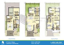 Small 4 Bedroom Floor Plans 4 Bedroom Townhouse Floor Plans Webshoz Com