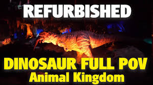 new refurbished dinosaur animal kingdom 4k pov youtube