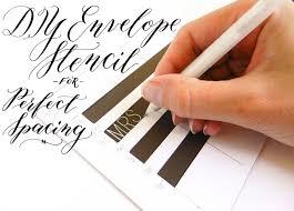 diy envelope stencil for perfect spacing the postman u0027s knock