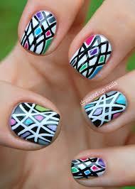 65 most stylish geometric nail art design ideas
