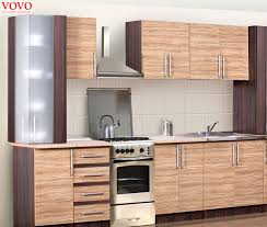 Rubberwood Kitchen Cabinets Aliexpress Com Buy Integrated Wood Grain Melamine Kitchen