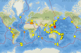 Map Of Fiji Fiji Japan And California Earthquakes 22 28 September 2016