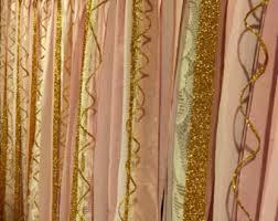 ribbon curtain etsy