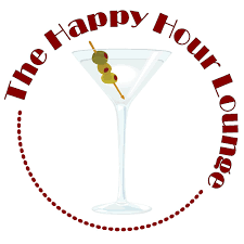 martini glass logo happy hour lounge