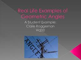 real life examples of geometric angles