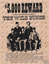 Wild West Home Decor 5000 Reward The Wild Bunch Old West Wanted Poster Western Home