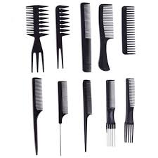 hair combs promotion 10 pcs black hair cutting combs set unique hair comb in