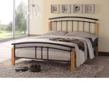 Wood And Iron Bedroom Furniture by Metal Double Bed Crowdbuild For