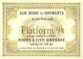 harry potter platform 9 3 4 ticket inspired personalized birthday