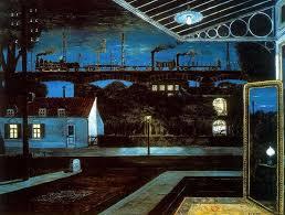 la chambre d 馗oute magritte paul delvaux the viaduct 1963 paul delvaux