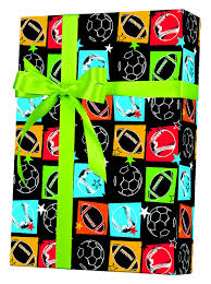 sports wrapping paper sports fanatic