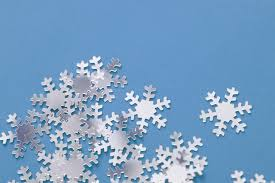 image of white snowflake decorations at freebie