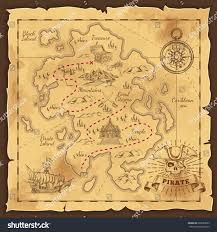 World Treasure Map by Treasure Map Pirate Emblem Sailboat Compass Stock Vector 665099695