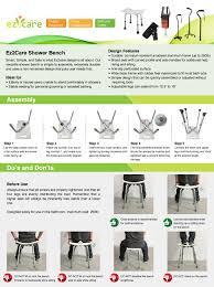 amazon com ez2care adjustable lightweight shower bench white 18