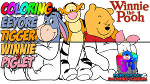 how to color winnie the pooh walt disney coloring pages for kids