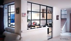 cloison vitree cuisine cloison vitree cuisine salon la cloison vitree entre cuisine et