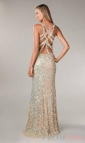 primavera v neck sequin prom dress sequin evening gown prom