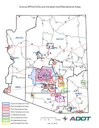 Arizona Highway Map by Air Quality Overview