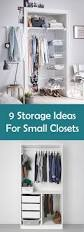Storage Solutions For Small Bedrooms by 9 Storage Ideas For Small Closets Contemporist