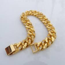 luxury bracelet gold chains images Buy 24k yellow gold men 039 s womens cross pendant jesus mens jpg