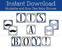printable mustache banner mustache and bow ties baby shower
