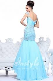 aqua cap sleeveless sweetheart trumpet dropped long prom dress