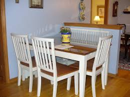 dining room contemporary dining banquette table with bench and