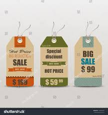 retro vintage tag cards sale stock vector 179243369