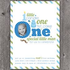 template lovely baby boy first birthday party invitations with