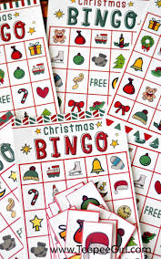 free christmas bingo game printable