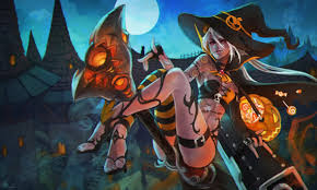 halloween 4k wallpaper halloween jinx lol wallpapers