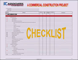 Construction Project Template Excel Project Checklist Template Excel Template Update234 Com