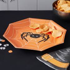 spooky halloween paper plates spooky spider halloween party