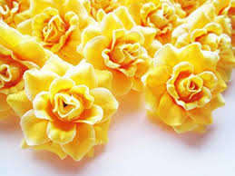 wholesale artificial flowers 24 silk yellow roses flower 1 75