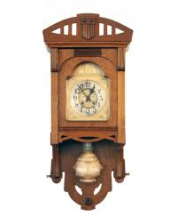 art nouveau wall clock from vfu ag for sale at pamono